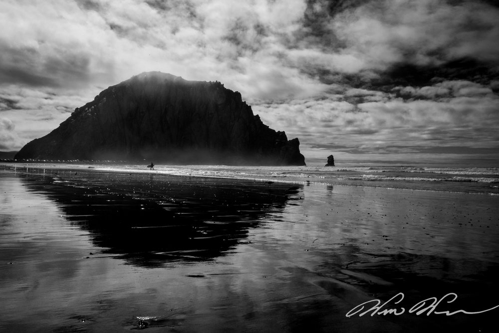 Surfer in the Shadows - Morro Bay, CA