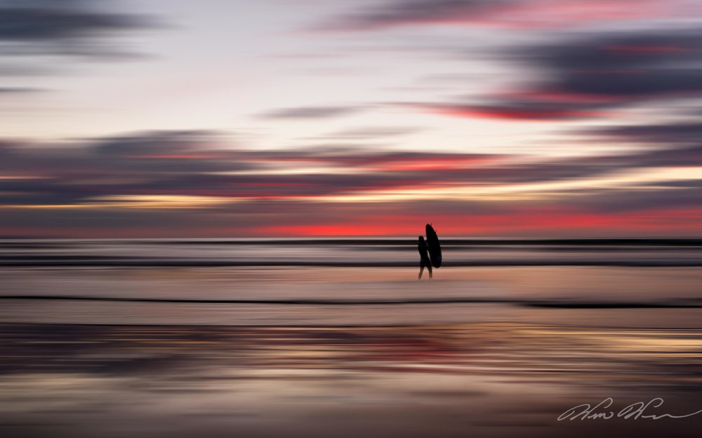 Sunset Surfer - Imperial Beach, CA