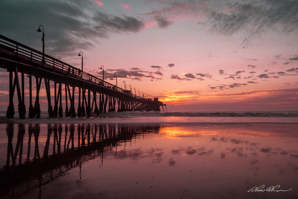 Lavender Sunset - Imperial Beach Pier