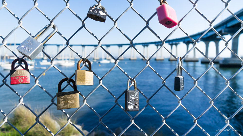 Love Locks - Coronado, CA