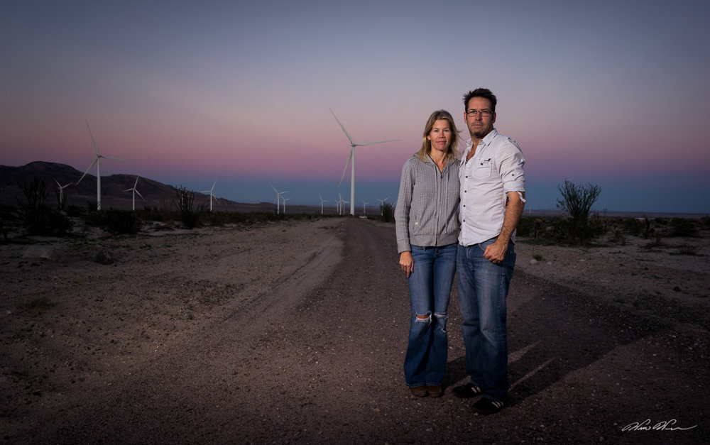 "Tara and Will, ""Windmill City"", Ocotillo, CA"