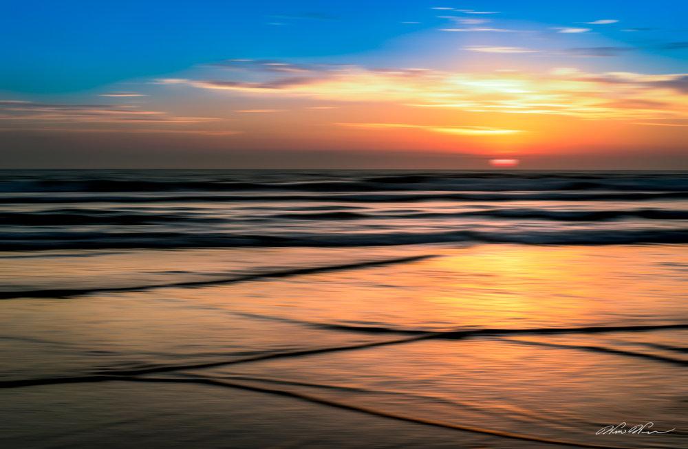 """""""Silk Purse,"""" The sun burns through the clouds, Imperial Beach Pier, Imperial Beach, CA"""