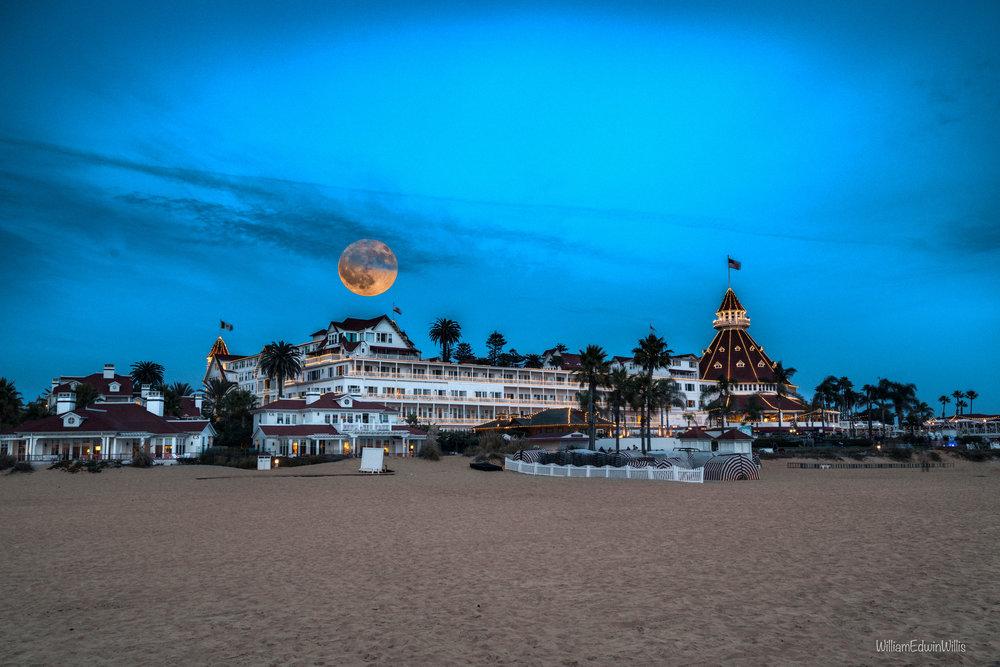 Harvest Moon Over the Hotel Del Coronado