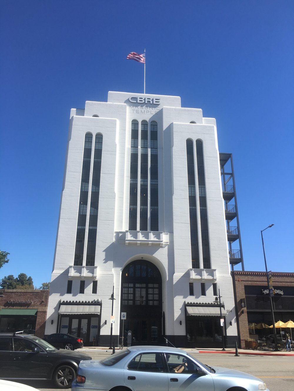 CBRE's iconic historical renovation project of an old masonic temple in Glendale, California -