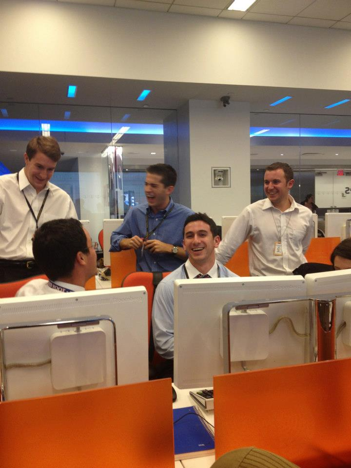 Training days at Bloomberg August 2012 - Lee, Pete, Brian, Ed, Eric