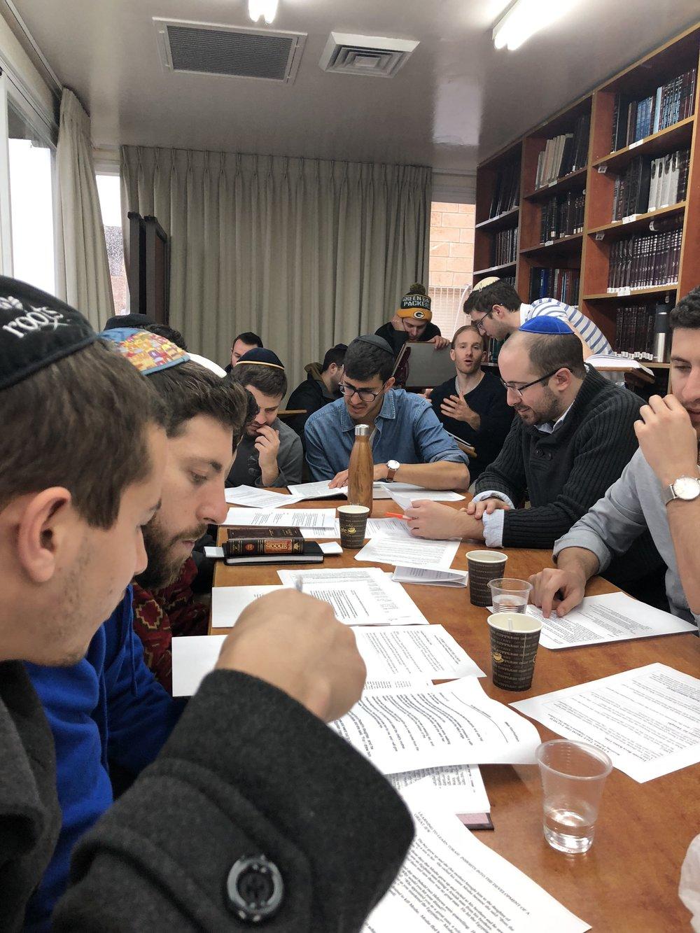 Studying at Machon Yachov Yeshiva