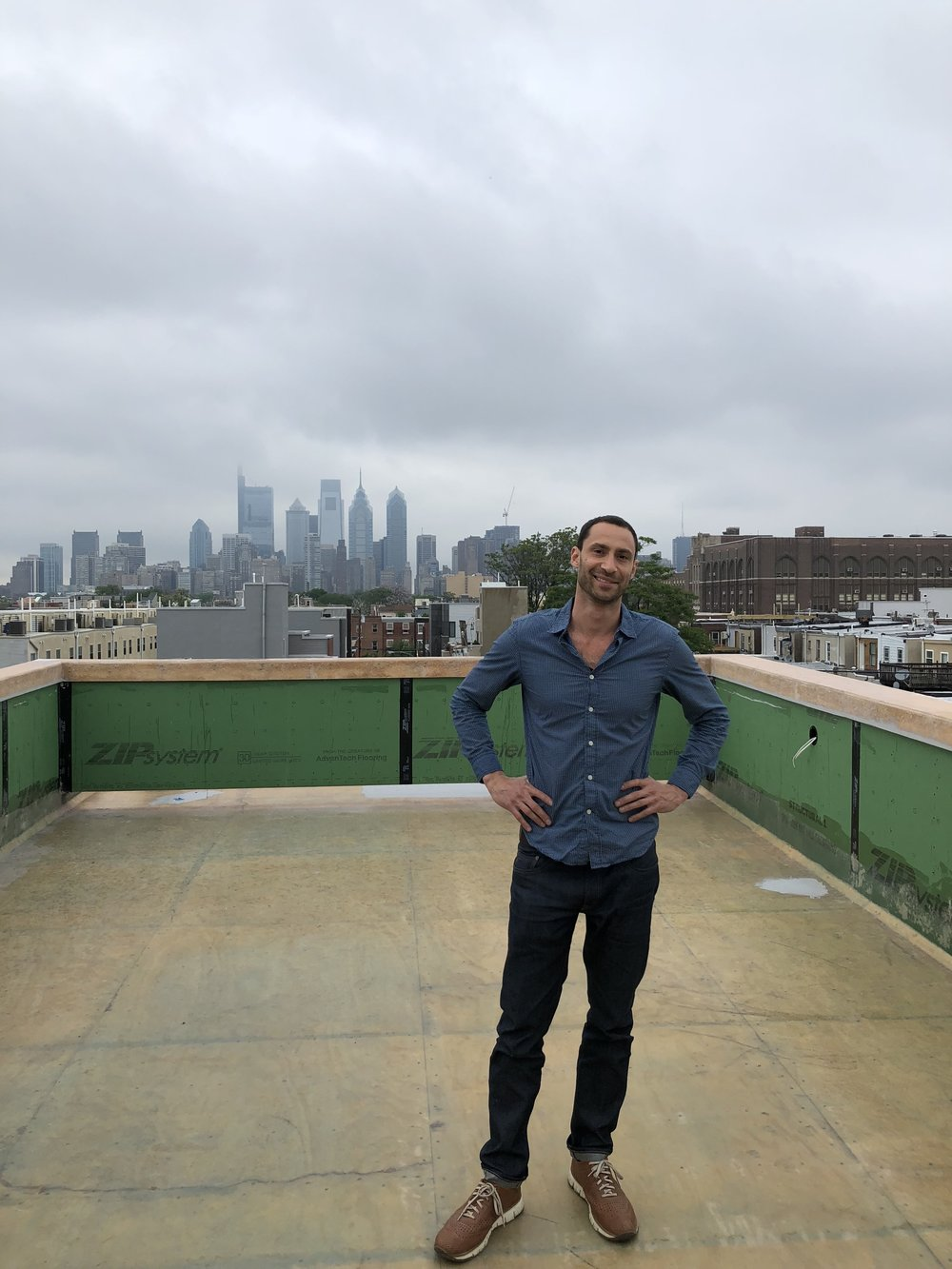 Cliff on the roof of one of his other projects