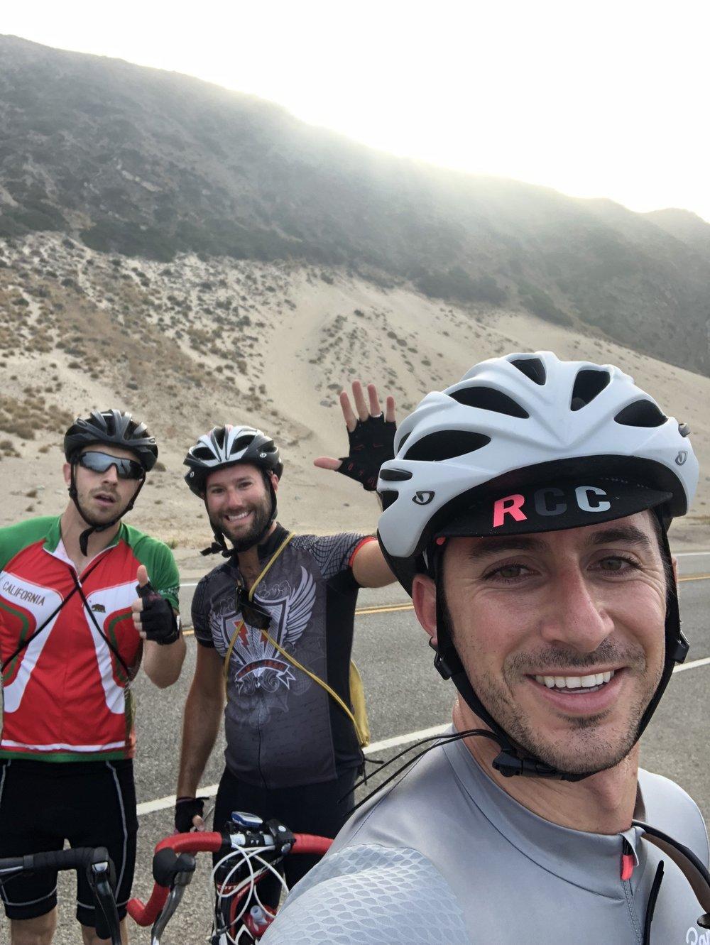 Jason, Jordan and Myself knocking out 100 miles to Santa Barbara