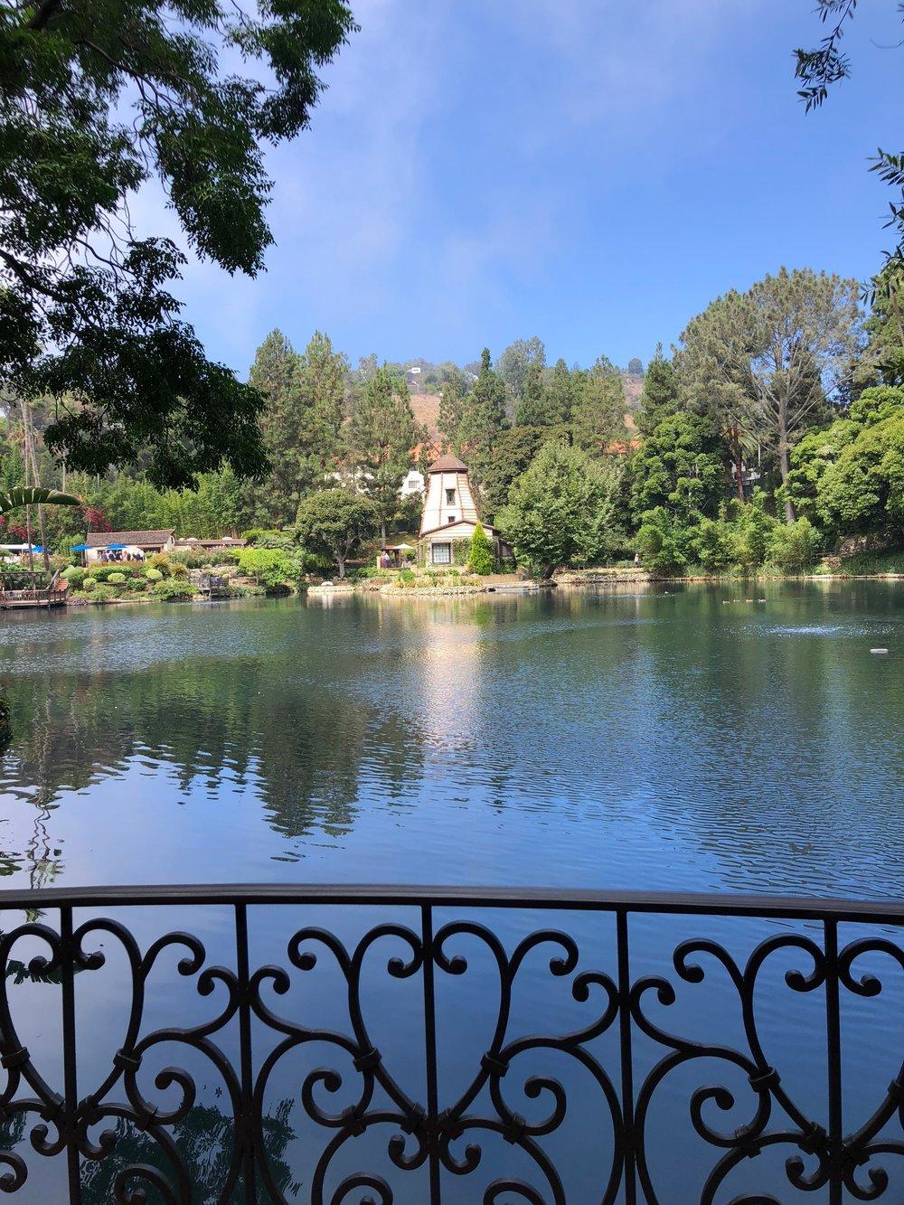 Meditating in Palisade's Lake Shrine