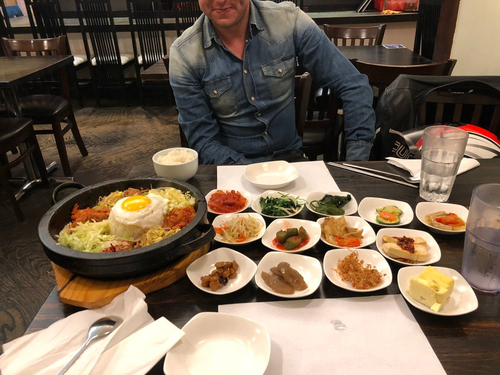 My buddy @RichPeters and I eating our way through Koreatown - Sabon - one of Jonathan Gold's Top 100