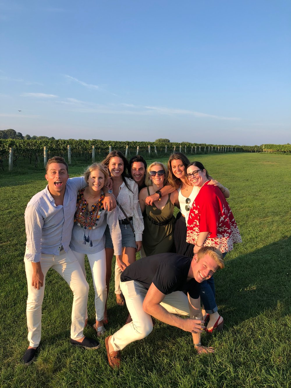 Team outting in the Hamptons