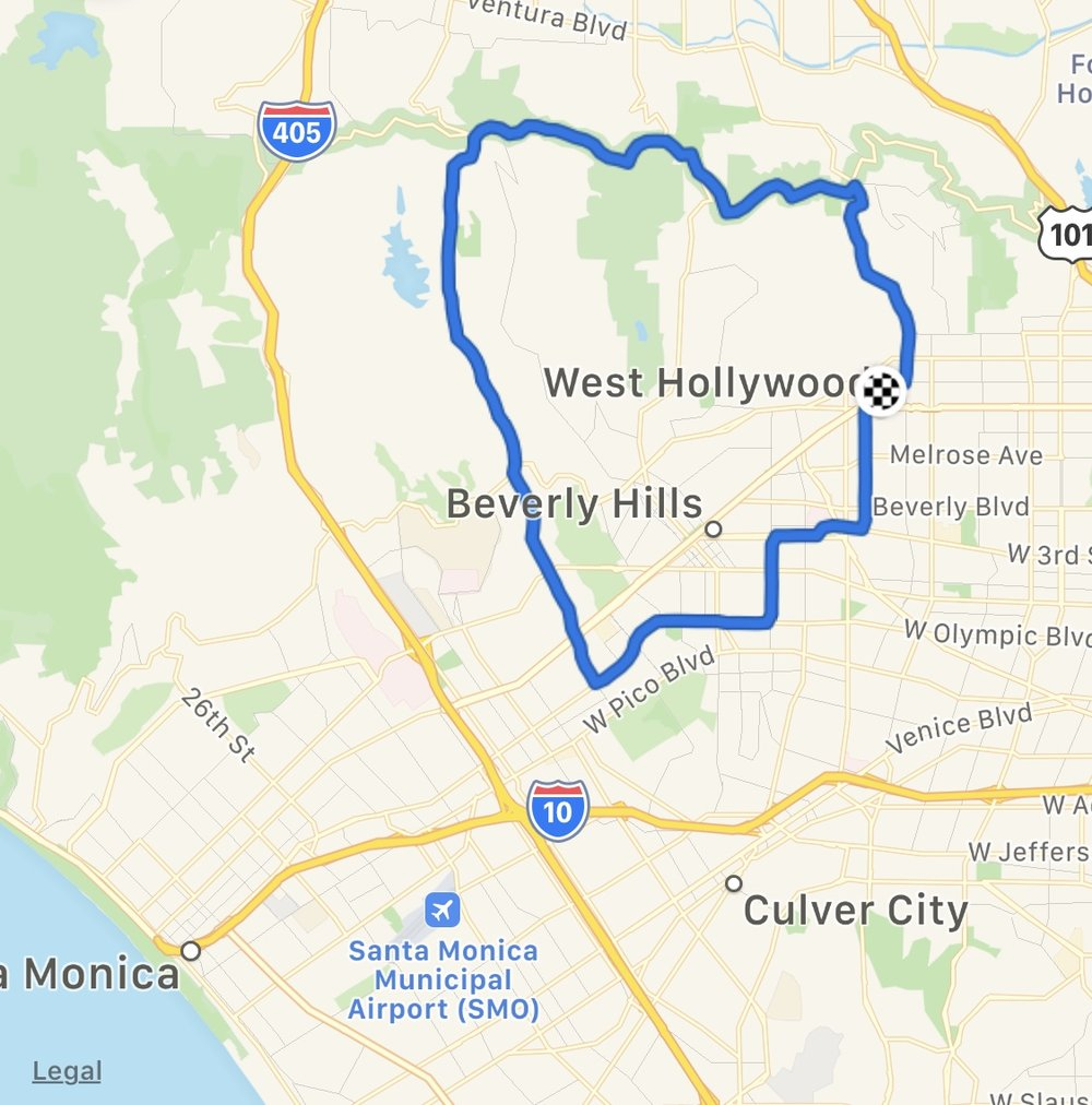 Incredible riding in the Hollywood Hills