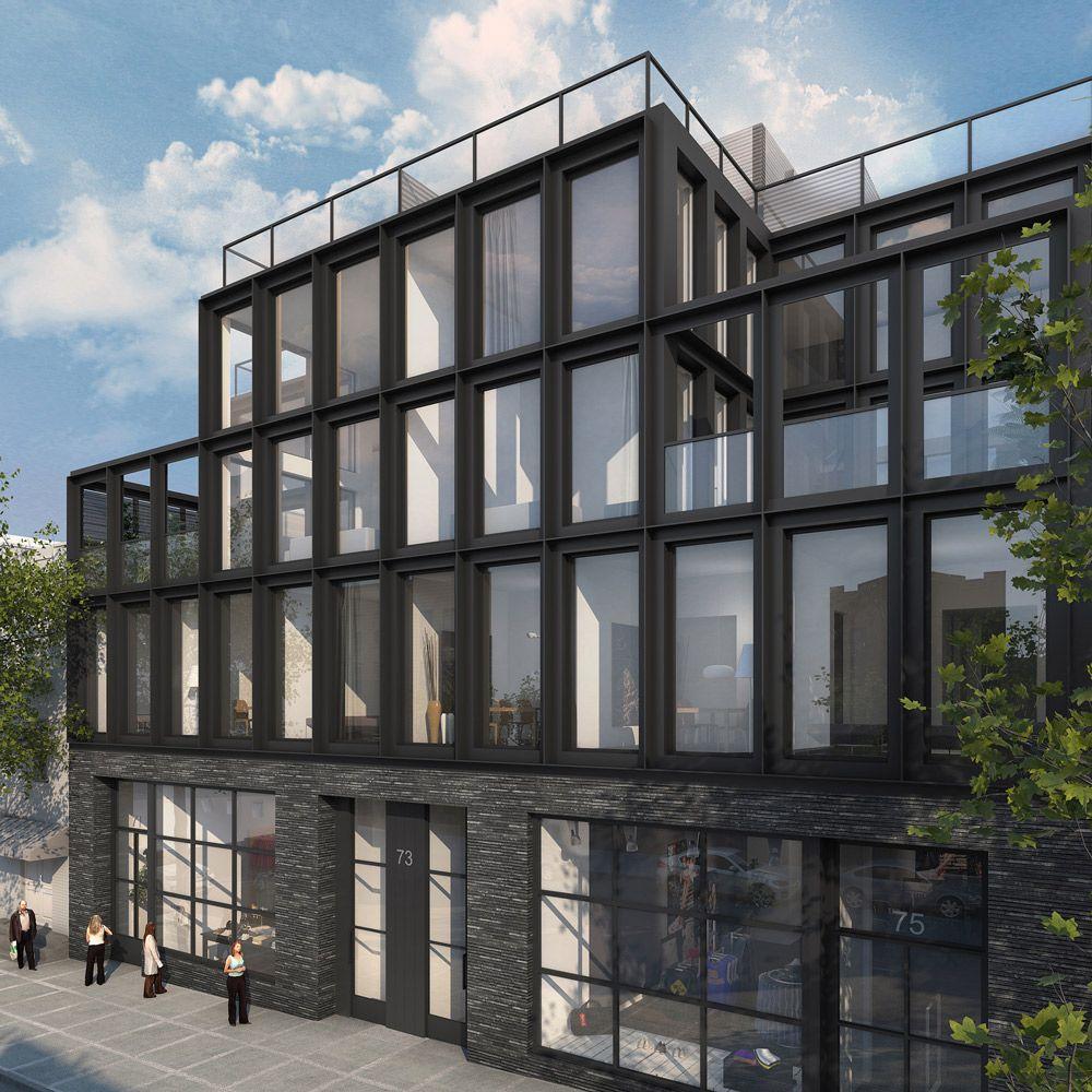Williamsburg Brick & Steel Apartment Building