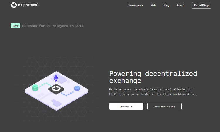 0xProtocol a decentralized exchange for trading ERC-20 tokens