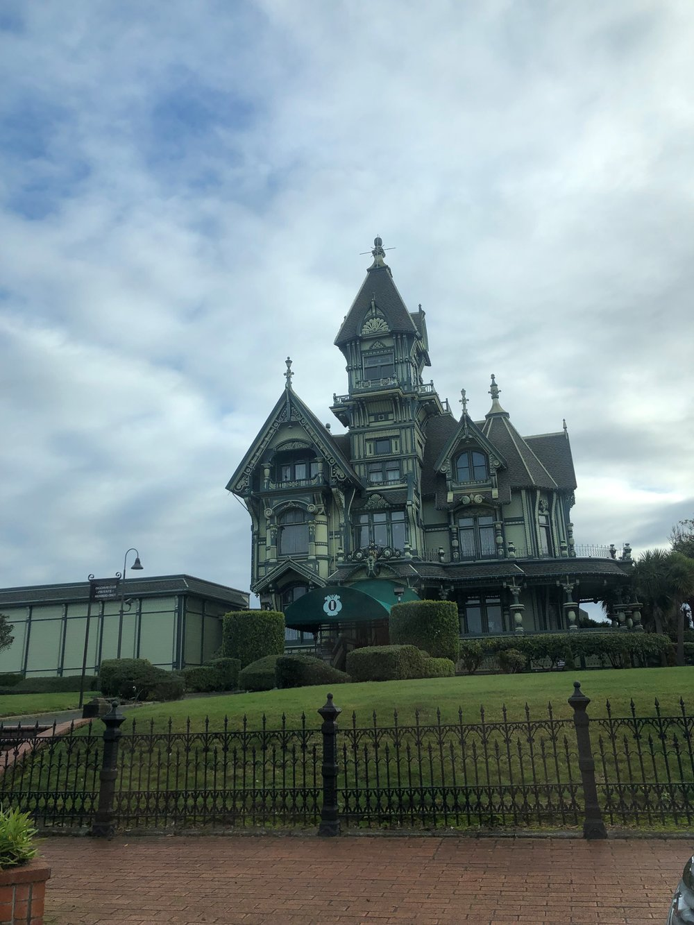The historic Carson mansion — a timber barron's original home.