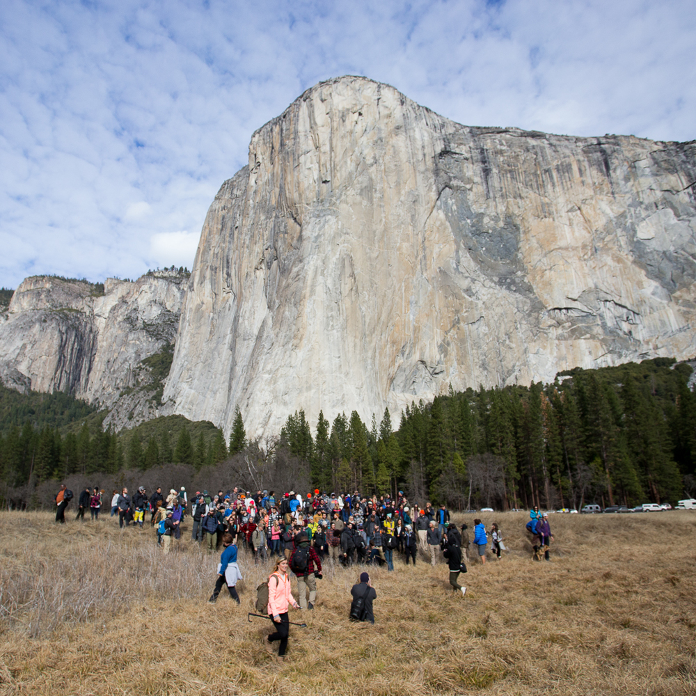 Yosemite Instameet over 150 joined in on the fun! #YNPinstameet