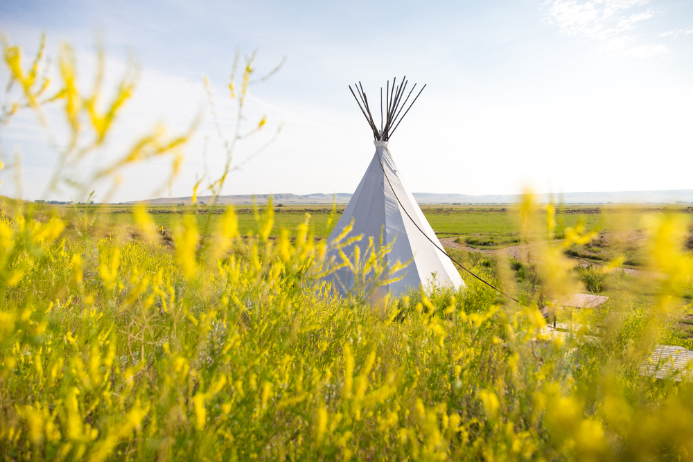 Tipi, the crossing resort. Grasslands national park