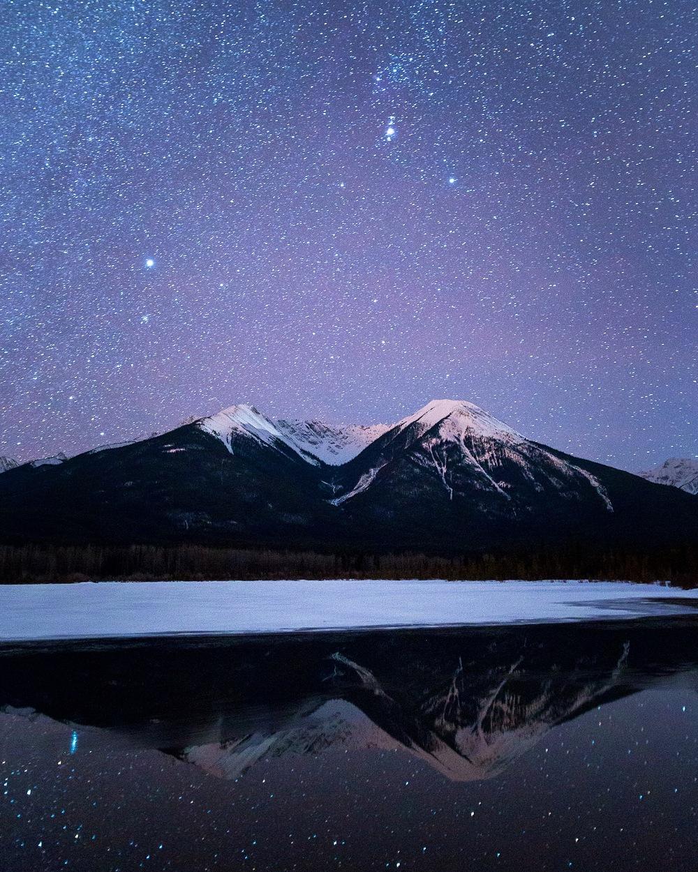 Stars over Vermilion Lakes, Banff, Alberta - Taylor Burk .JPG