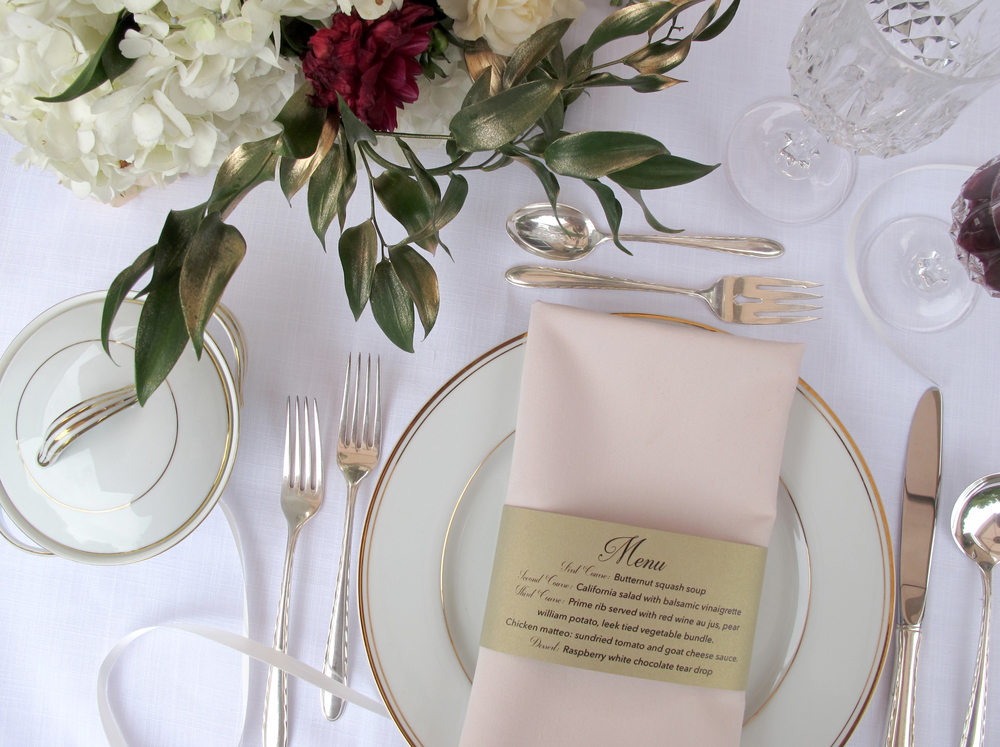 Champage and Gold Leaf :: Ashley + Ross