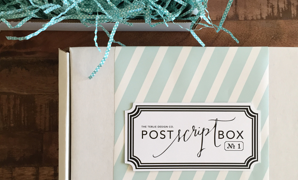 The Terlie Design Co. POST SCRIPT BOX is a stationery subscription service, delivering pretty paper goods right to your door! CLICK HERE for details