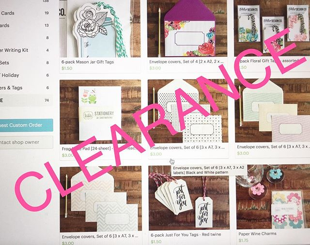 Over 70 items are on clearance in my Etsy shop! Go get 'em tiger! 🐯  Terlie.etsy.com  #stationery #etsy #etsyshop #etsyclearance #paperaddict #stationeryaddict