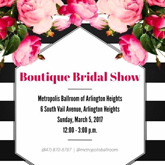 This Sunday! ❤ I'll be at the Metropolis Ballroom in Arlington Heights, IL talking to Brides and Grooms about their wedding stationery needs!  #weddingplanning #weddingseason2017 #weddingstationery #weddinginvitations
