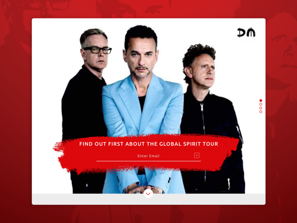 In honor of my favorite band, and the fact that I just scored pre-sale tickets, here's a landing page for Depeche Mode.  What do we want? Tickets. When do we want them? Now!