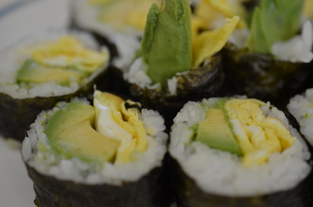 Avocado Egg Sushi (my Parents' house)