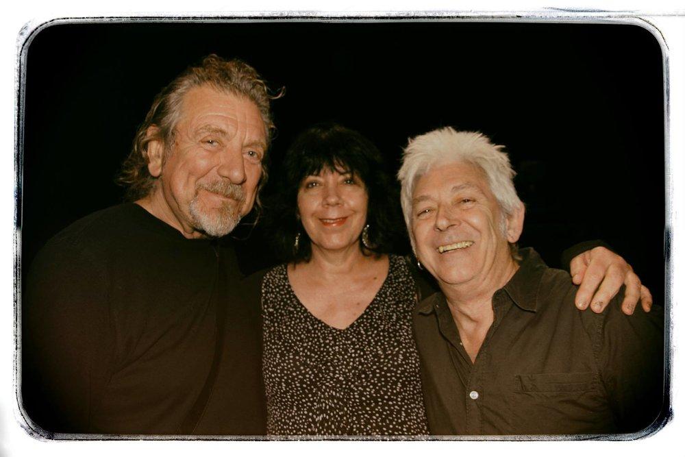 Robert Plant, me, and Mac at Stubbs