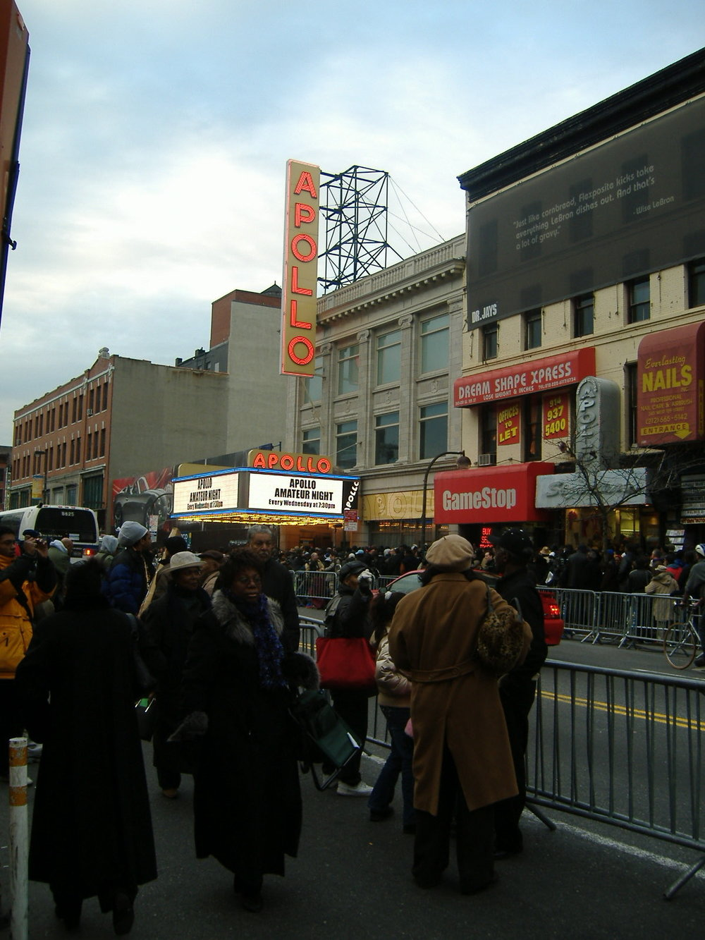 Harlem street scene in 2006 after James Brown passed on.