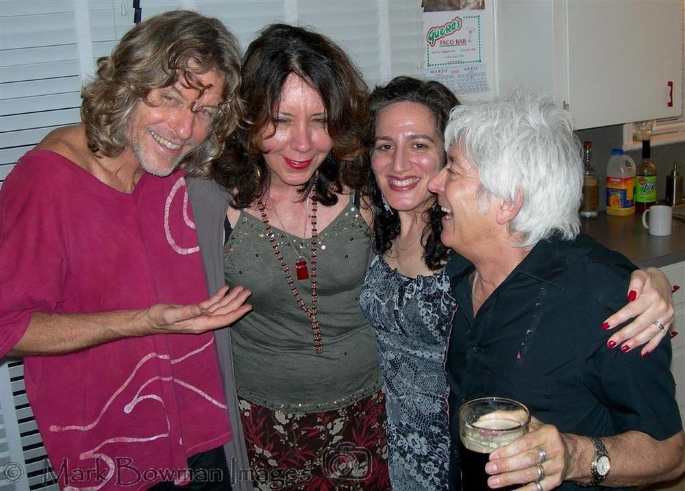 Mark Andes, me, Lynne Rossi and Ian 'Mac' McLagan at the after party for Mac's Spiritual Boy CD release tribue to Ronnie Lane.