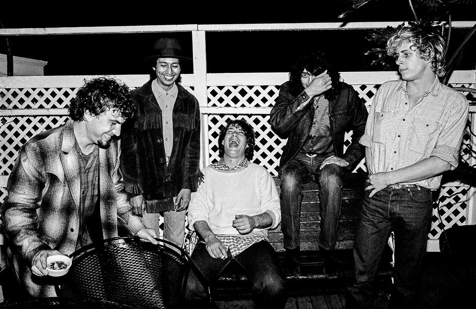 True Believers backstage at Fitzgerald's in the 80's.