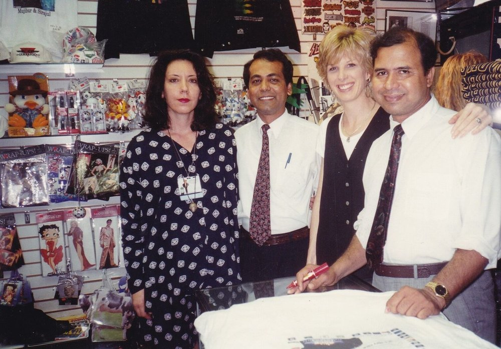 Mujibur Rahman and Sirajul Islam employed at souvenir shop K&L's Rock America, were frequent guests of David Letterman.