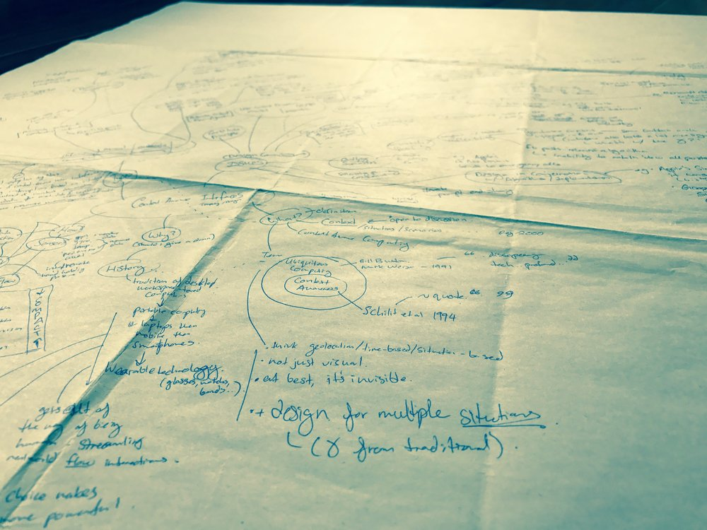 Pen and Paper Brainstorm of Design Improvements