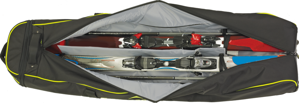 Adjustable Internal Straps: Holds skis & poles securely in place