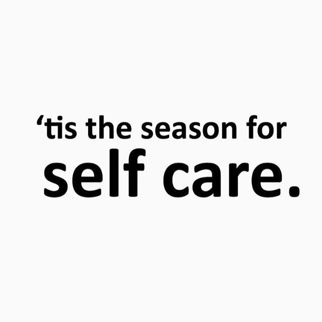 The holidays are tough, folks. Make a special effort to love on yoself.