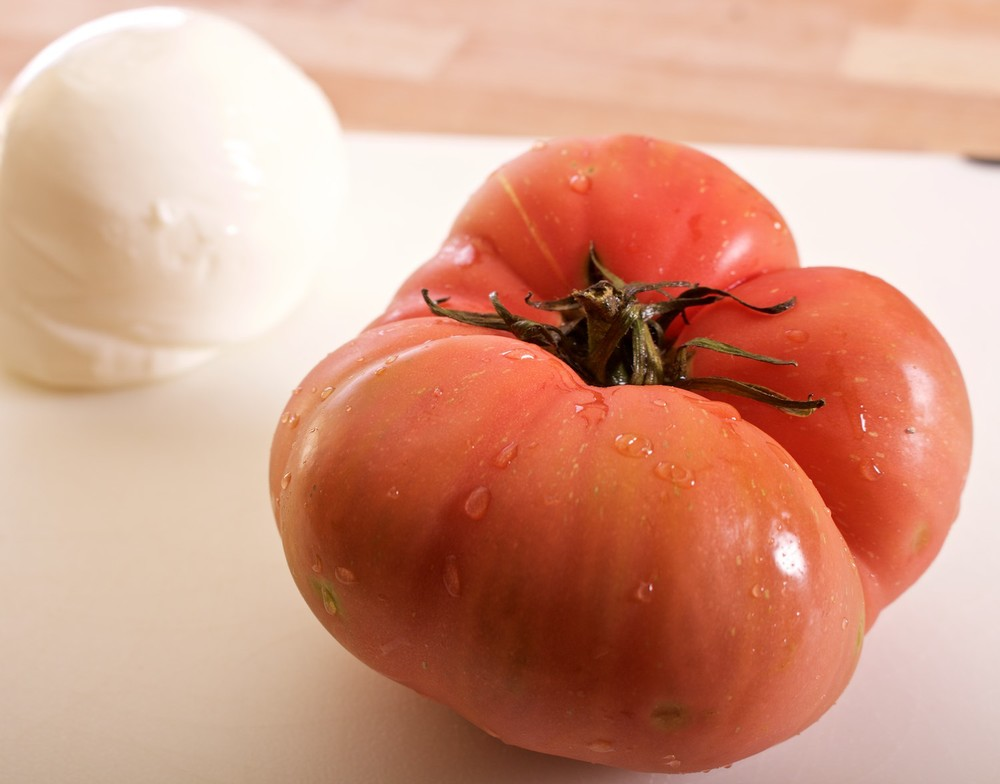 Check out this awesome heirloom tomato!