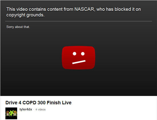 Blocked Nascar Vid