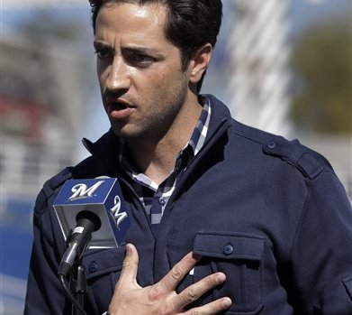 Milwaukee Brewers baseball player Ryan Braun speaks about doping scandal in an effort to save his reputation