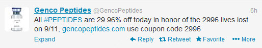 genco peptides 911 offensive marketing