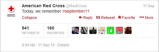 red cross 911 memorial