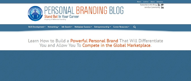 personal branding blog screen shot best blogs for building your online brand