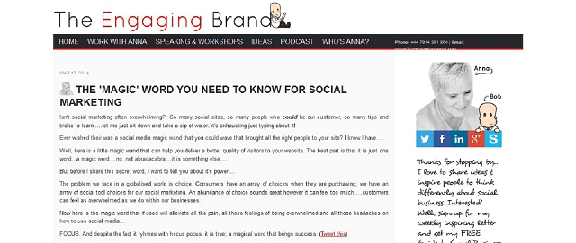 the engaging brand blog screen shot best blogs for building your online brand