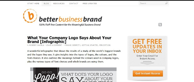 better business brand blog screen shot best blogs for building your online brand