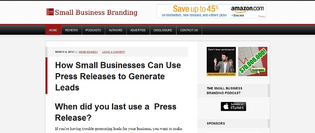 small business branding blog screen shot best blogs for building your online brand
