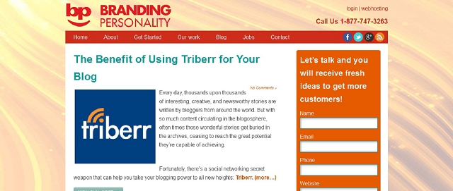 branding personality blog screen shot best blogs for building your online brand