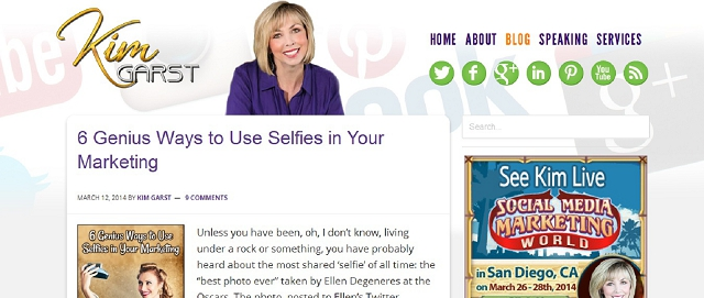 kim garst branding blog screen shot best blogs for building your online brand