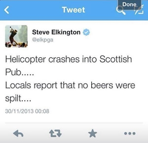 steve elkington insensitive tweets