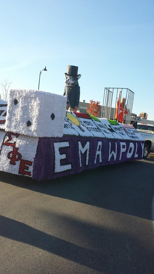 The float for the parade.