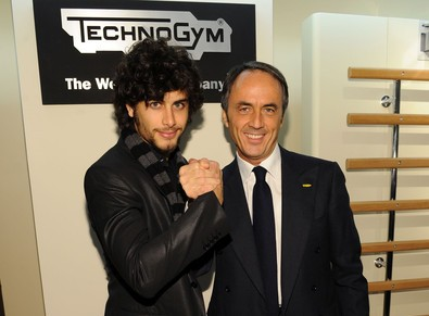 Brazilian   Model Jesus Luz and President of Techongym Nerio Alessandri
